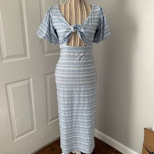 Urban Outfitters Gingham Plaid Maxi Dress M